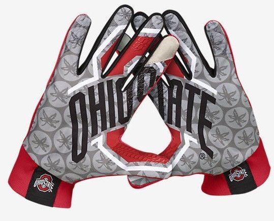 Ohio State Buckeyes Nike Stadium Football Gloves Fan Red Black Size