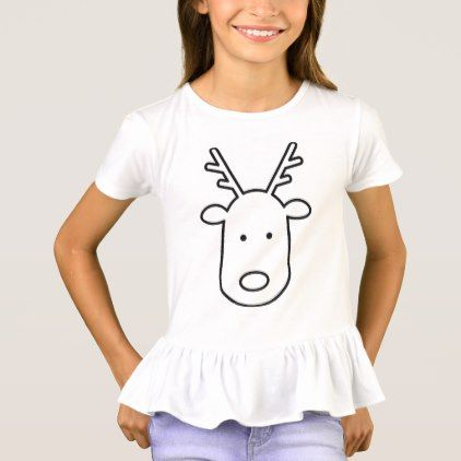 9f17a0d5 Reindeer girly shirt. T-Shirt - girly gift gifts ideas cyo diy special  unique