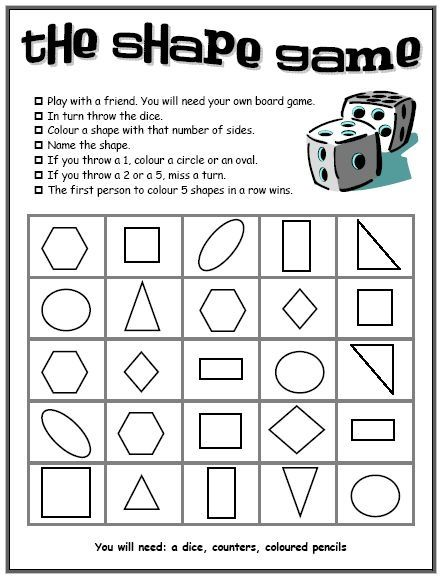shape resources shape games and activities ideal for introducing new shapes or use the dice to to tell students what shapes to draw in a composition or