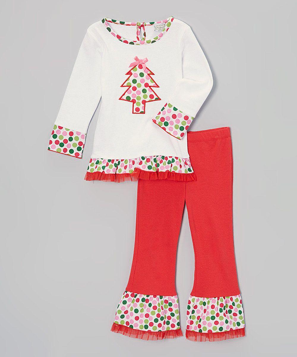 Look at this AnnLoren White Polka Dot Tree Tee & Leggings - Infant ...