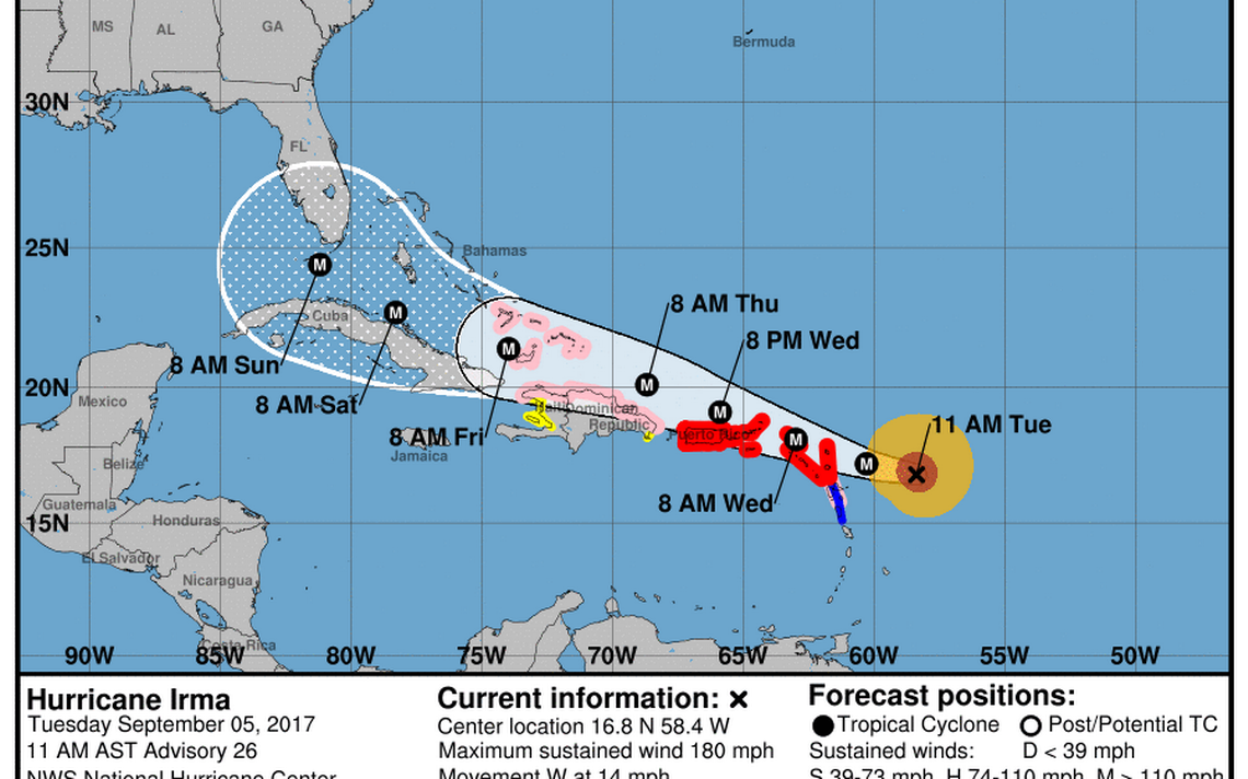 Irma Becomes Strongest Atlantic Hurricane Outside Gulf And Caribbean Ever Recorded National Hurricane Center Atlantic Hurricane Hurricane