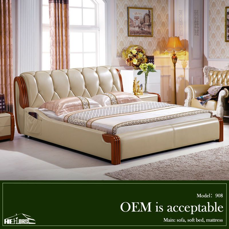 Indian Wood Double Bed Designs With Box 908# Photo, Detailed ...