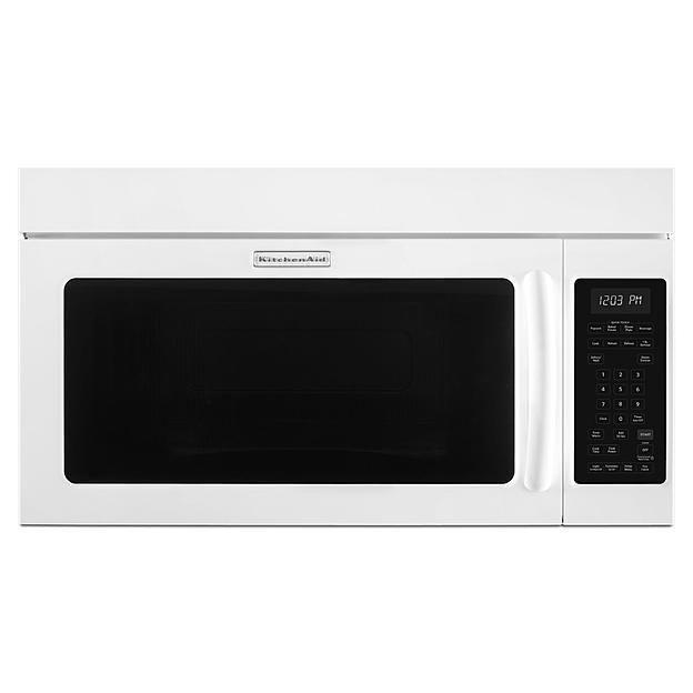KitchenAid White Over The Range Microwave Hood Combo Oven KHMS2040BWH