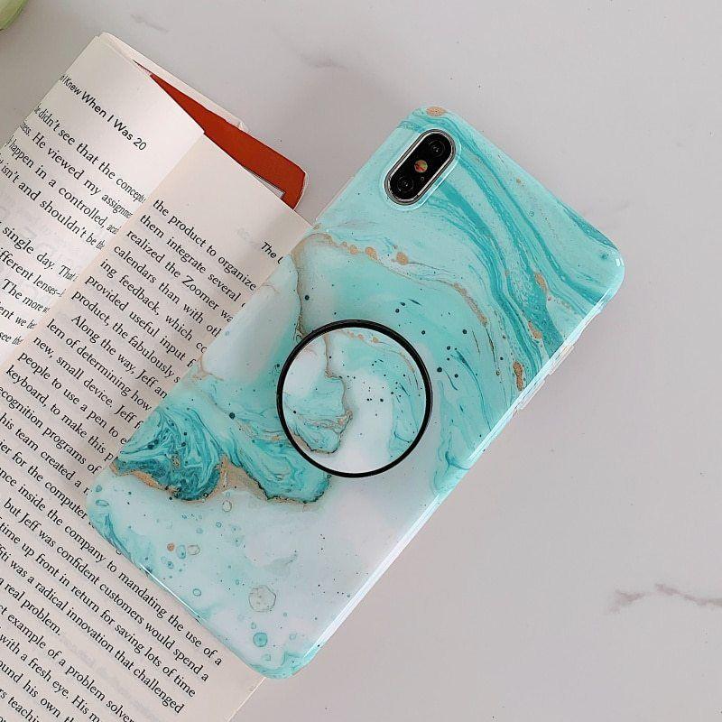 Diamond phone case pop socket cover for iphone popsocket