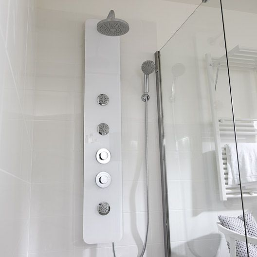 colonne de douche hydromassante sensea modern blanc 219 et pour ma salle de bain pinterest. Black Bedroom Furniture Sets. Home Design Ideas