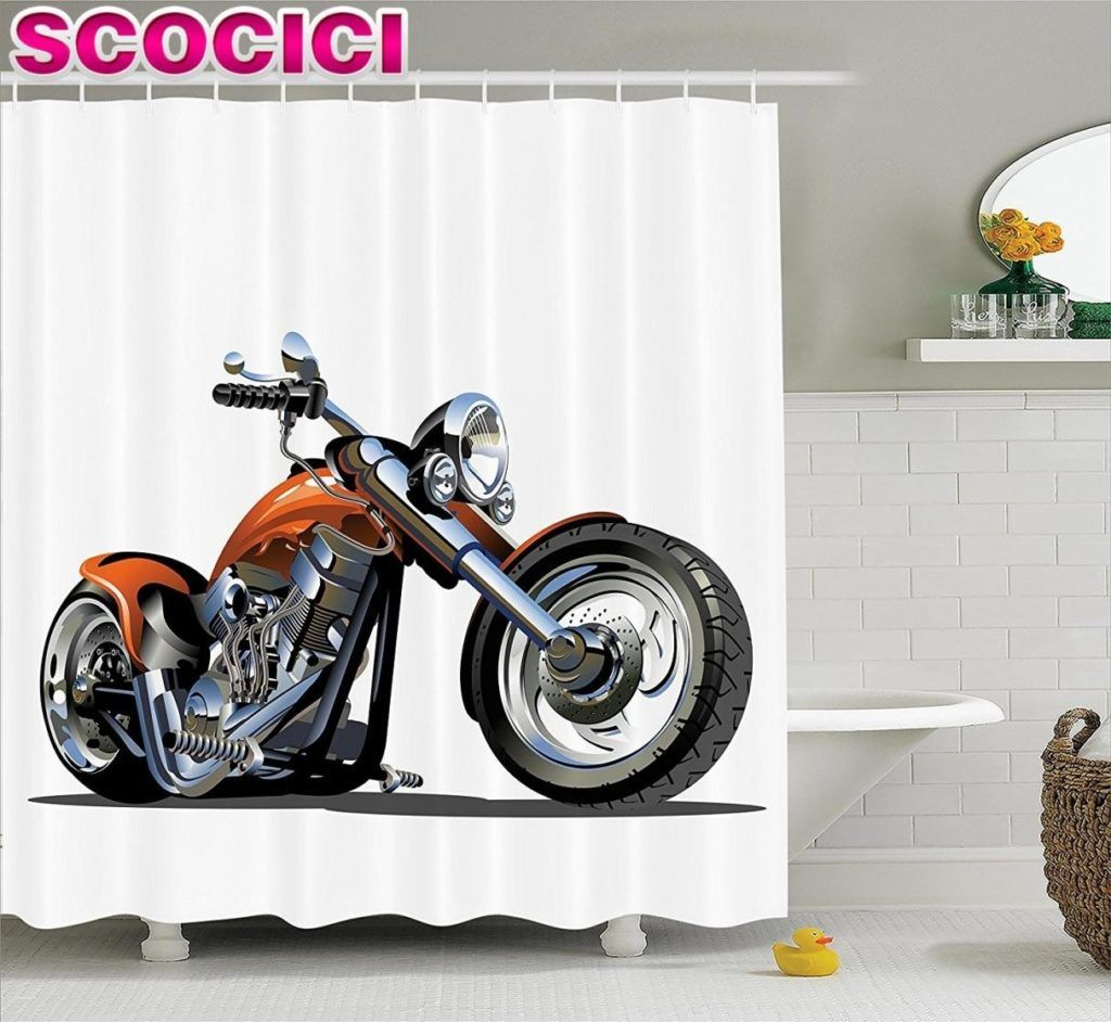 Motorcycle Shower Curtain Shower Curtain Sets Shower Curtain Curtains