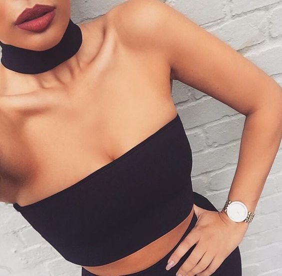 """Our """"Choker Crop"""" top from alyannaclothing.com----- really want some chokers.:"""