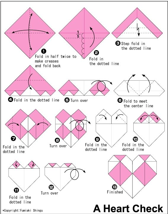 Peachy Origami Heart Check Craft Ideas All Things Paper Origami Heart Wiring 101 Photwellnesstrialsorg