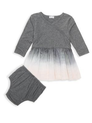 499f5ece277 Splendid - Baby Girl s Two-Piece Dip Dyed Dress   Matching Bloomers ...