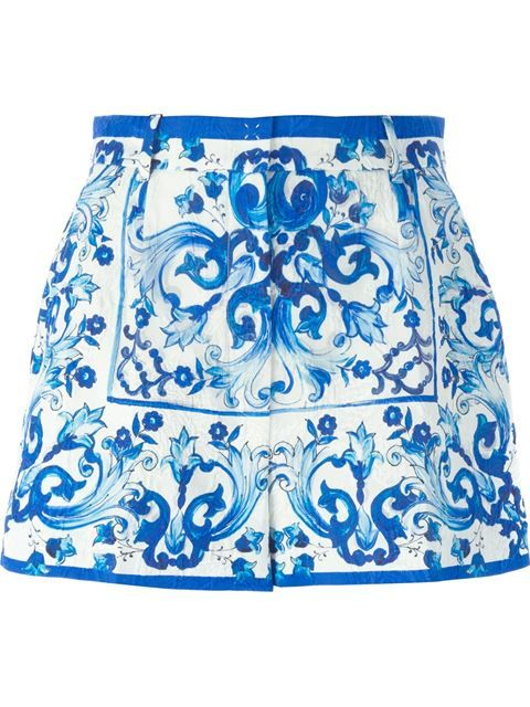 Shop Dolce & Gabbana 'Majolica' print brocade shorts in Birba's from the world's best independent boutiques at farfetch.com. Shop 300 boutiques at one address.