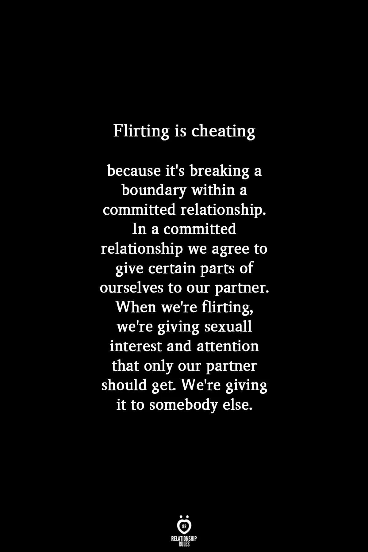 flirting vs cheating committed relationship images quotes love life