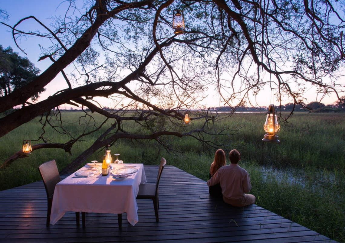 Intimate is the operative word when it comes to romance in the African bush