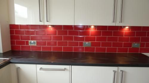 red brick kitchen wall tiles - Google Search | Brick tiles ...