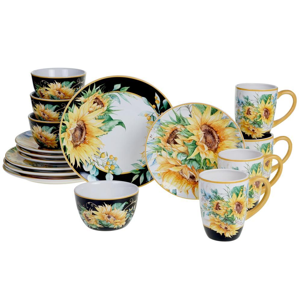 34++ Sunflower ceramic dinnerware set inspirations