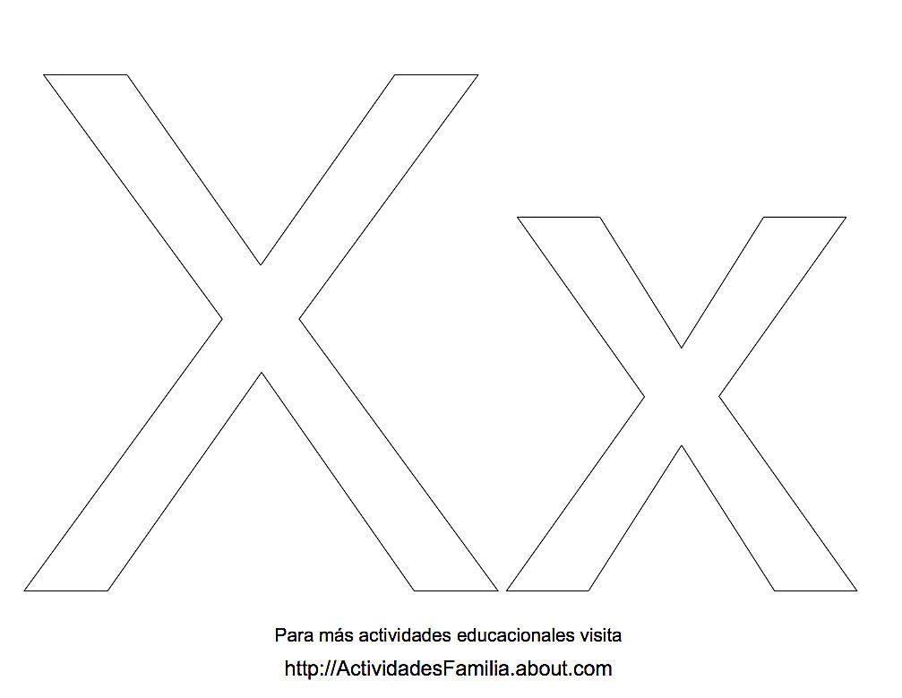 Letra X Para Colorear Buscar Con Google Letras Colores