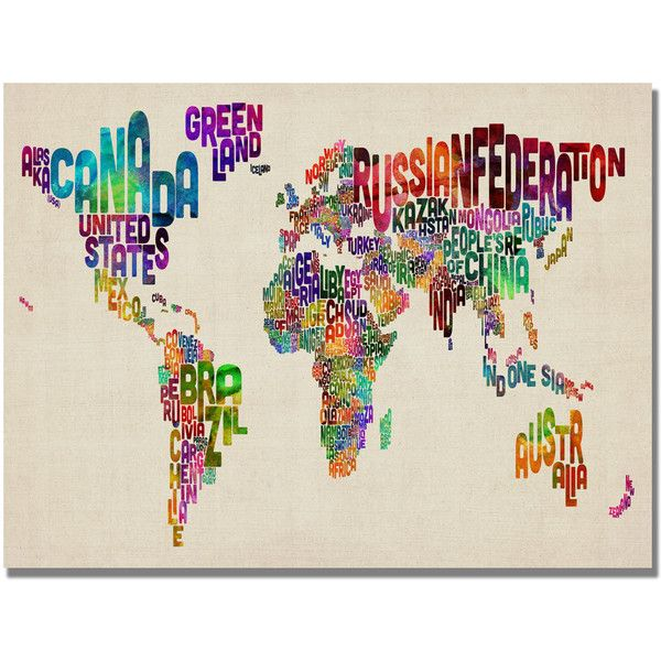 Michael tompsett typography world map ii canvas art 74 cad michael tompsett typography world map ii canvas art 74 cad liked gumiabroncs Gallery