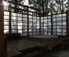 shoji screen outdoor winter material hot tub - Google Search