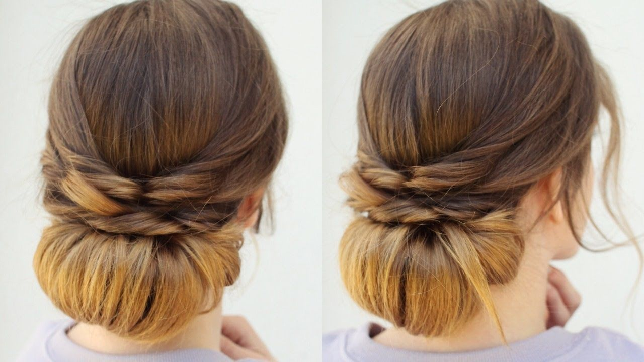Quick and easy heatless updo heatless hairstyles