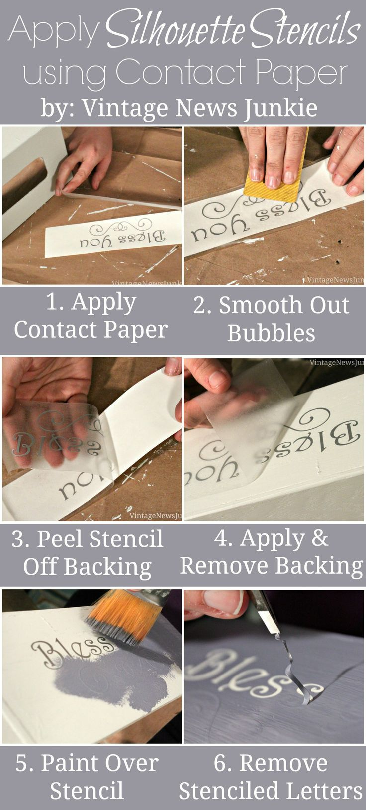 How To Apply Silhouette Stencils Using Contact Paper Silhouette