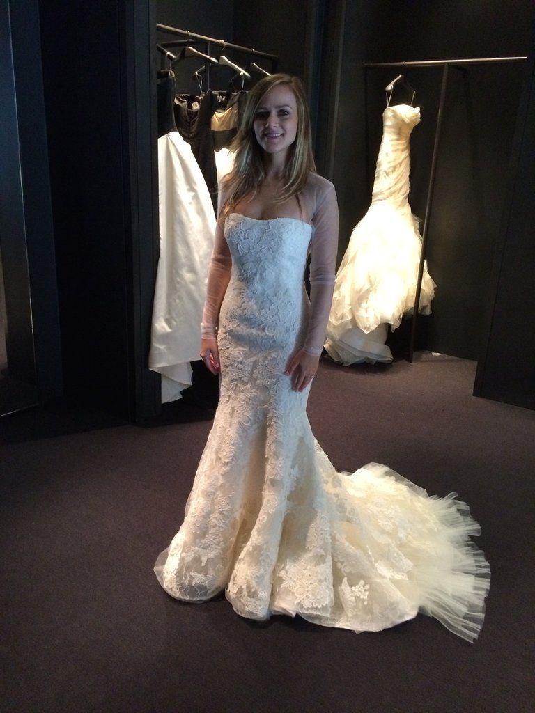 Vera Wang Hilary Custom Wedding Dress Used Wedding Dresses Dresses [ 1024 x 768 Pixel ]