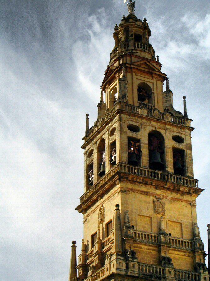 Torre del campanario de la mezquita catedral de c rdoba - Mezquita de cordoba de noche ...
