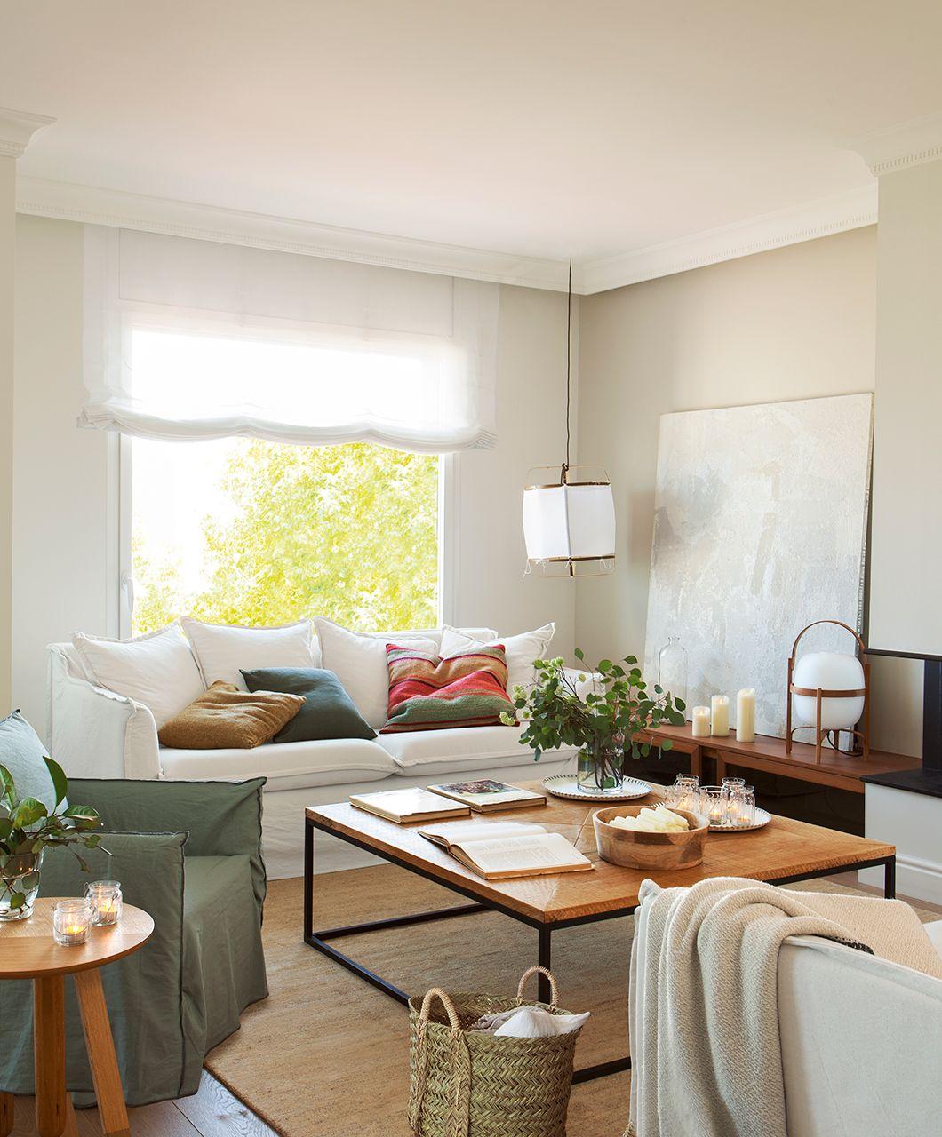 Reformar dos pisos antiguos y convertirlos en uno moderno - Salon piso moderno ...