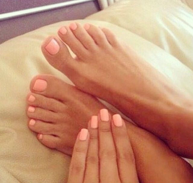 Peach Nail Color Treat Your Tips And Toes To A Fantastic Mani Or Pedi With Sharon Wrap Up Service Great At Gorgeous You Salon