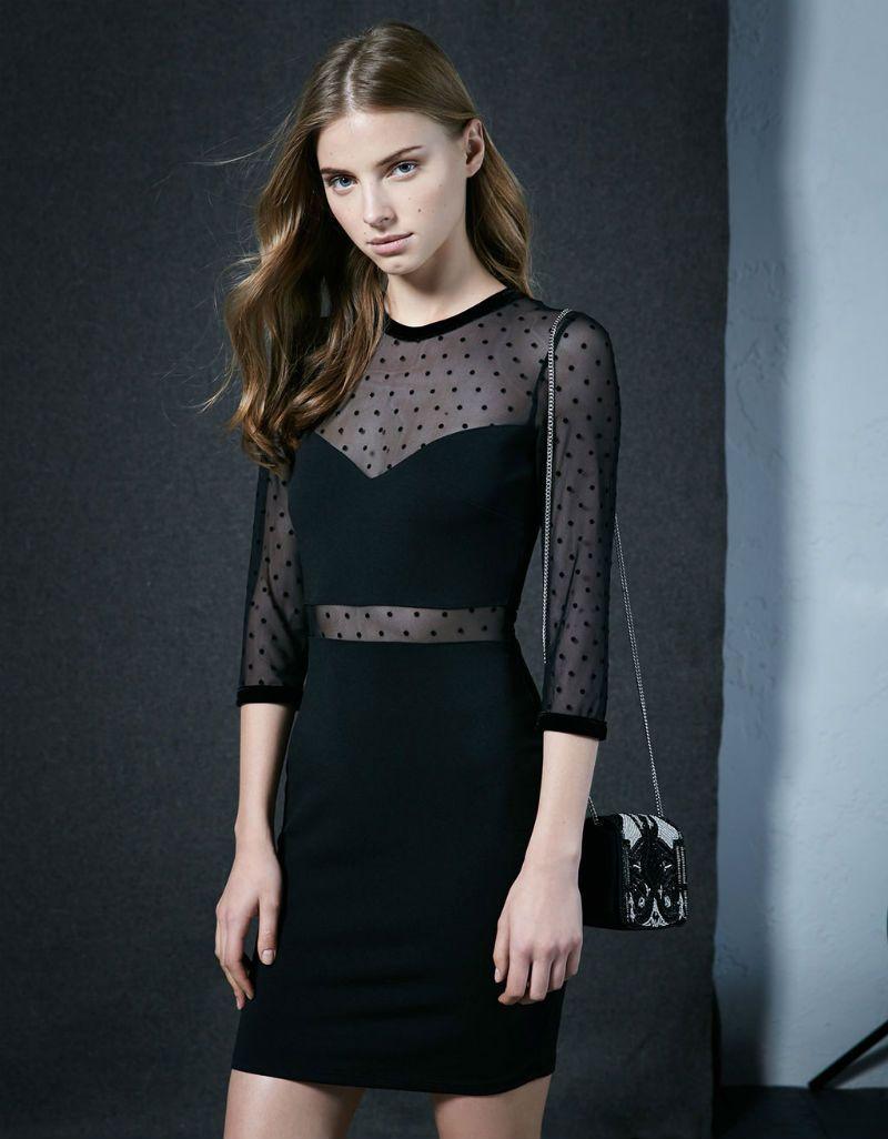 Vestidos negros invierno 2015