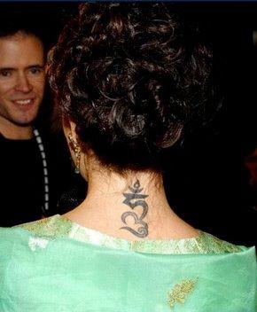 Alyssa Milano S Buddhist Hum Tattoo With Images Tattoos