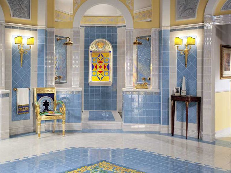 Pavimento rivestimento in ceramica bicottura luxor for Versace bathroom accessories