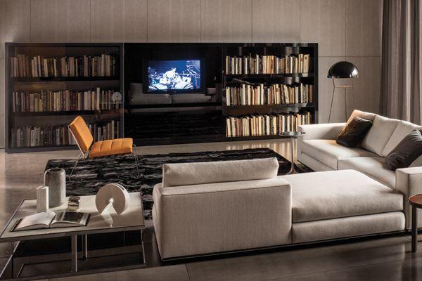 Meubles Minotti meubles minotti. finest italian minotti seater sofa in grey fabric