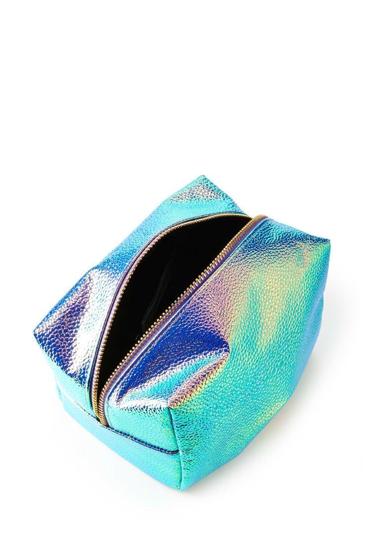 2bb91a9459e7 Holographic Pebbled Makeup Bag