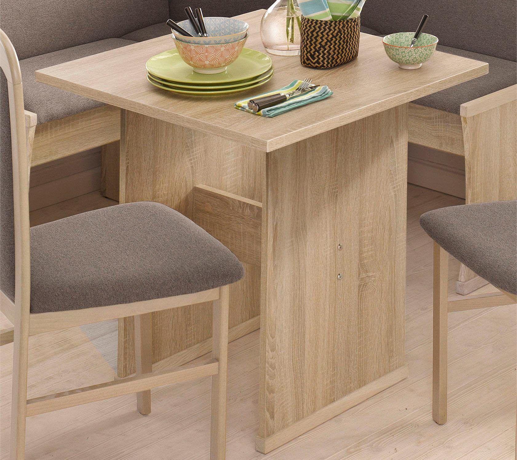 Esstisch braun, Tisch klein, pflegeleichte Oberfläche, FSC ...