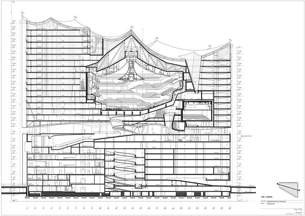 Elbphilharmonie Hamburg Area Concert Hall Architecture Concert Hall Architectural Section