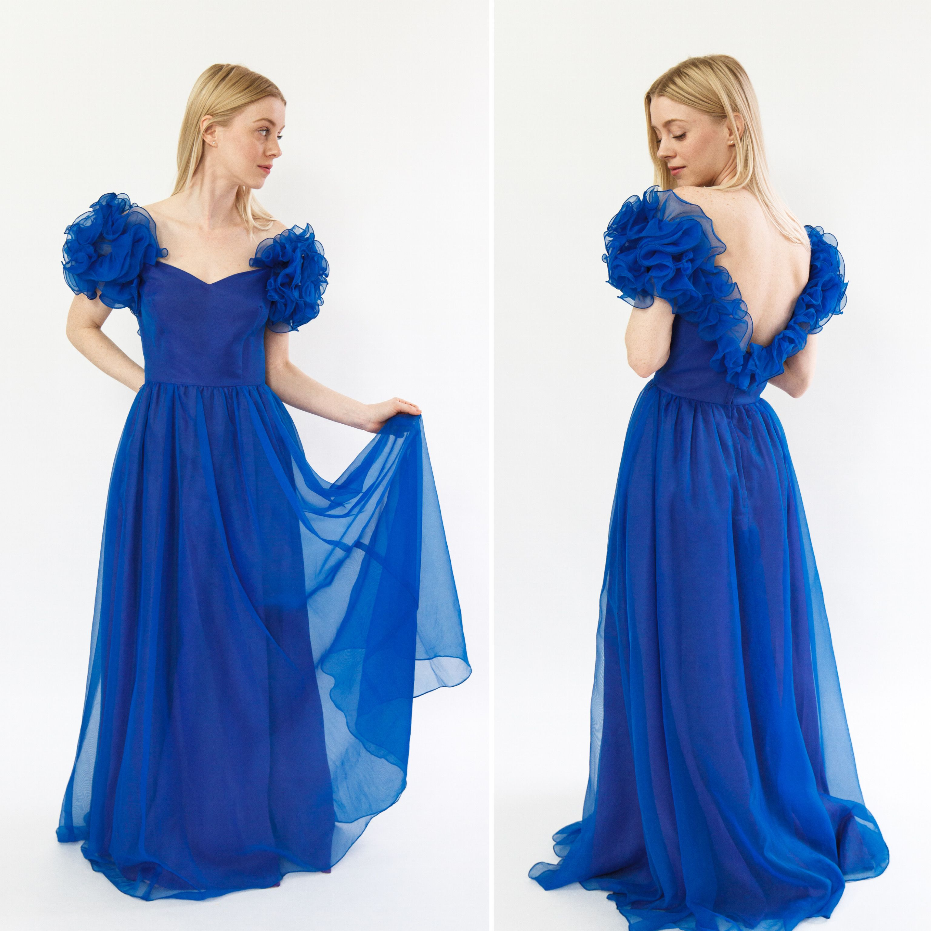 Vintage 1980s dress 80s ball gown 1980s prom dress