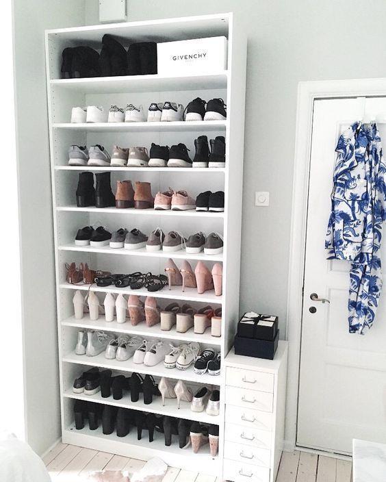 Solutions de stockage de chaussures - #abiballkleid #Chaussures #Dresses #kleid #Kleider #kleiderhochzeitsgast #kleiderschrank #kleiderstange #solutions #stockage