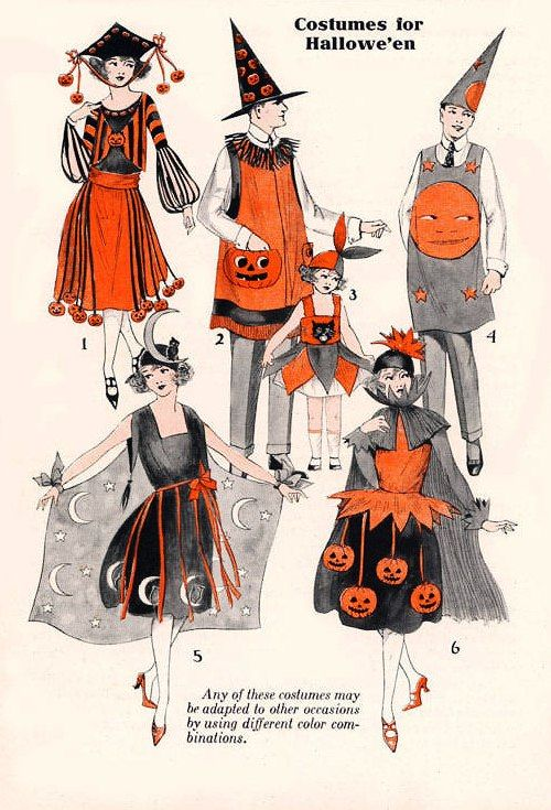 Vintage Halloween costumes from a catalog or pattern book Favorite - halloween catalog