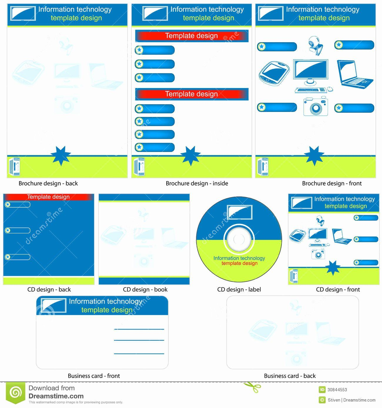Information Technology Planning Template Awesome Information Technology Template Stock Vector Information Technology Templates Business Plan Template