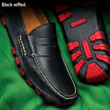 From Ralph Lauren, Polo Loafers Equally at Ease Behind the Wheel of a Bugatti, or on the Lawn at the Concours.