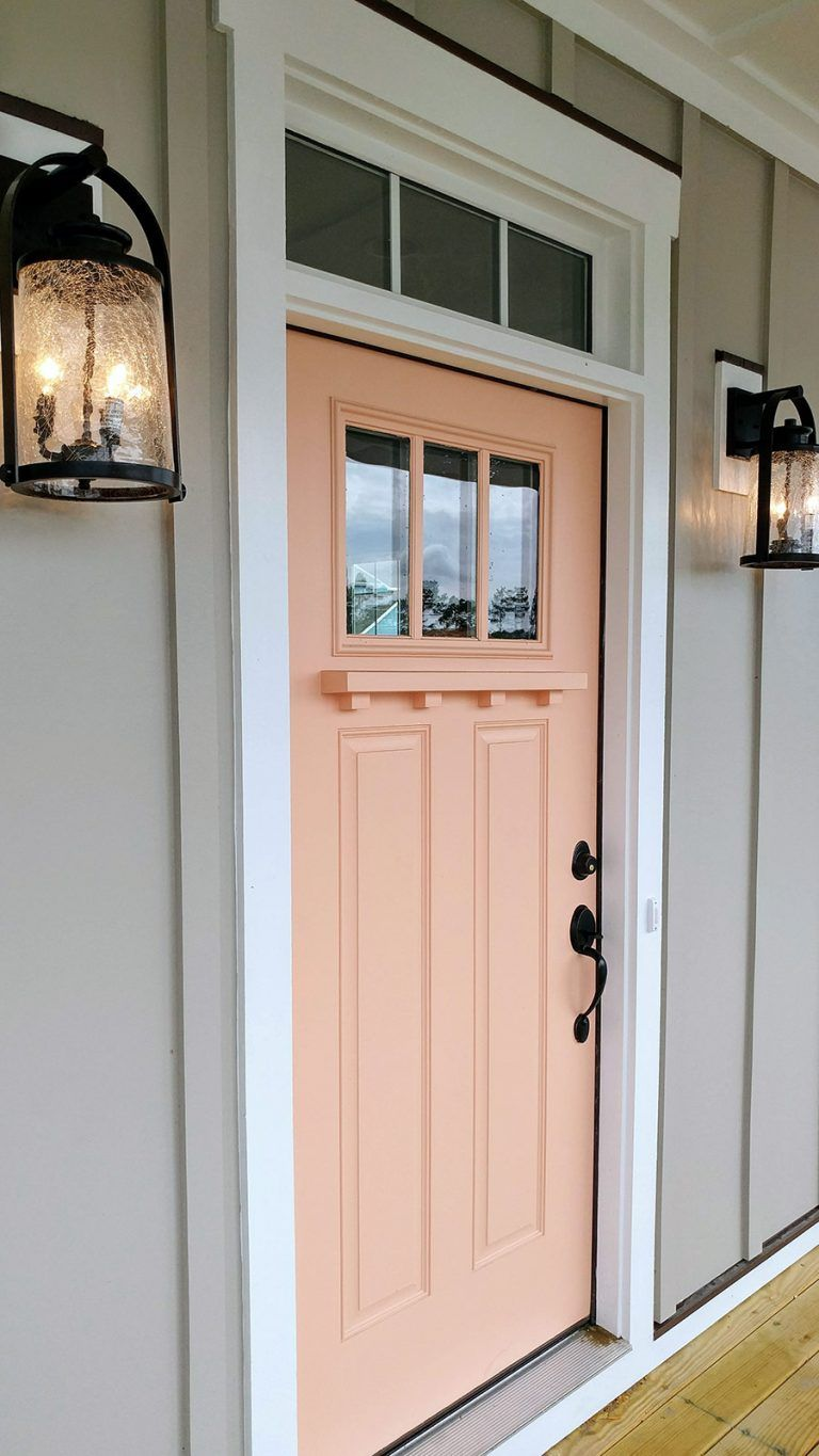 The Cottages Sunset Exterior In 2020 Coral Front Doors Coral House Orange Front Doors