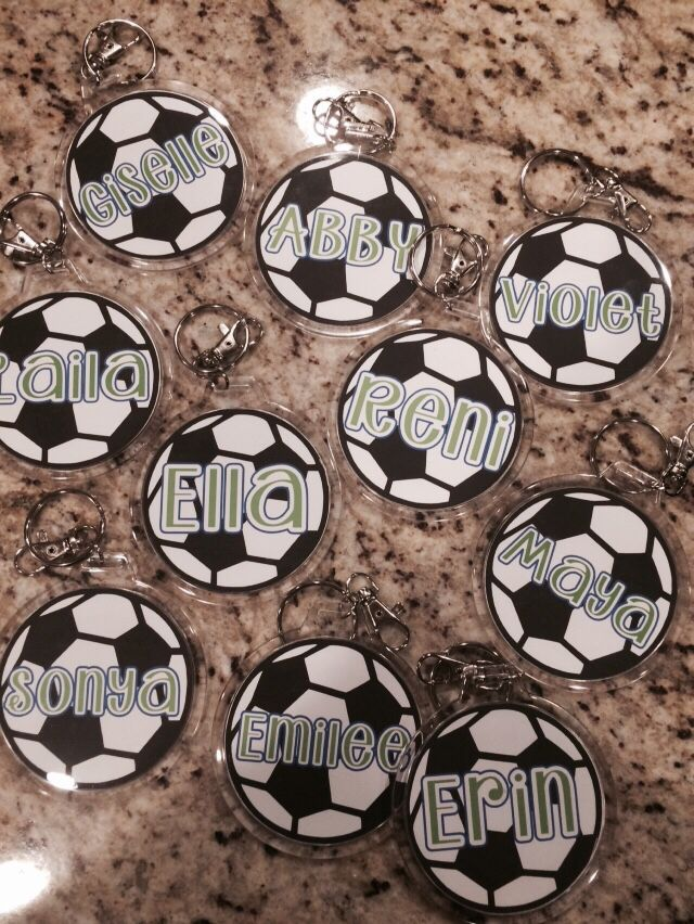 Silhouette Cameo Print And Cut Soccer Bag Tags