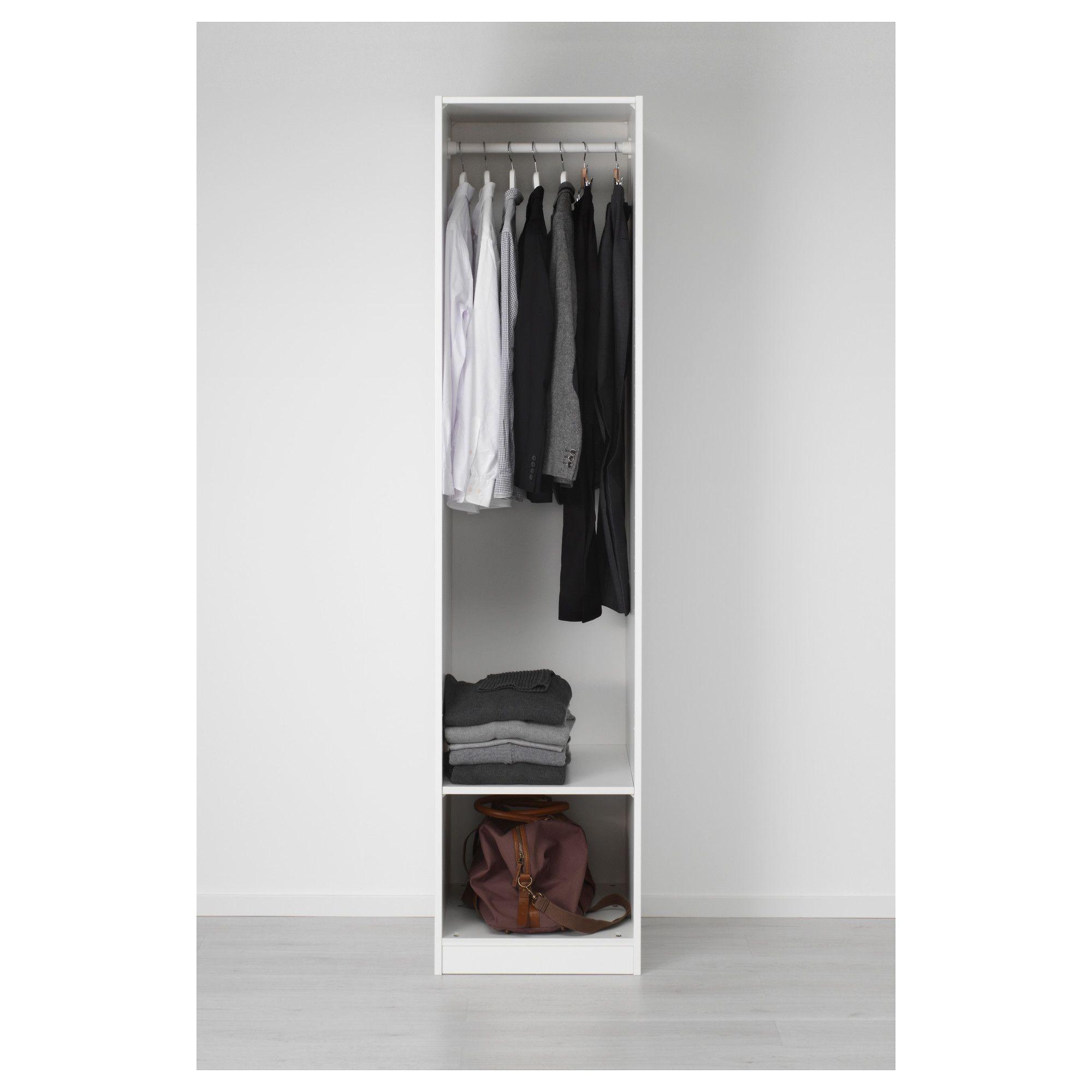 Wardrobe, white, Vikedal mirror glass, 19 5/8x23 5/8x79 1