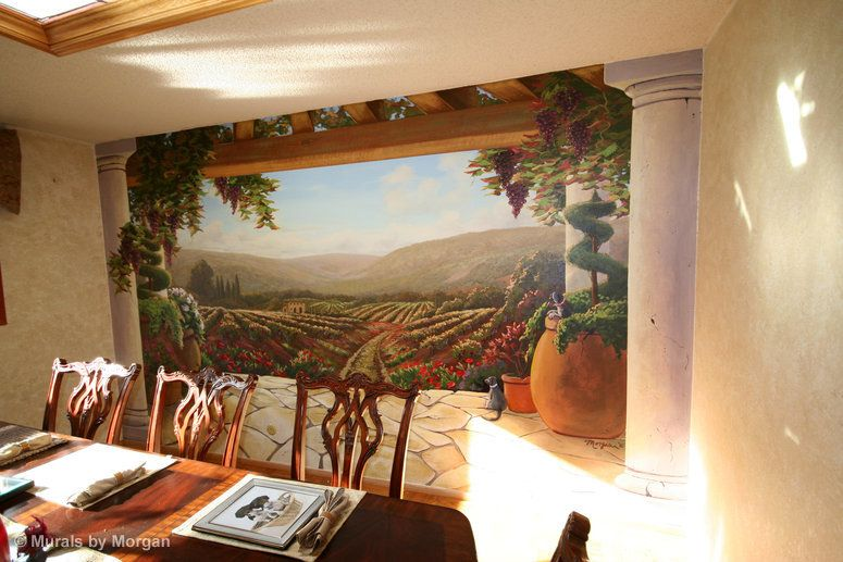 tuscan wall murals tuscan mural dining room hand on wall murals id=67901