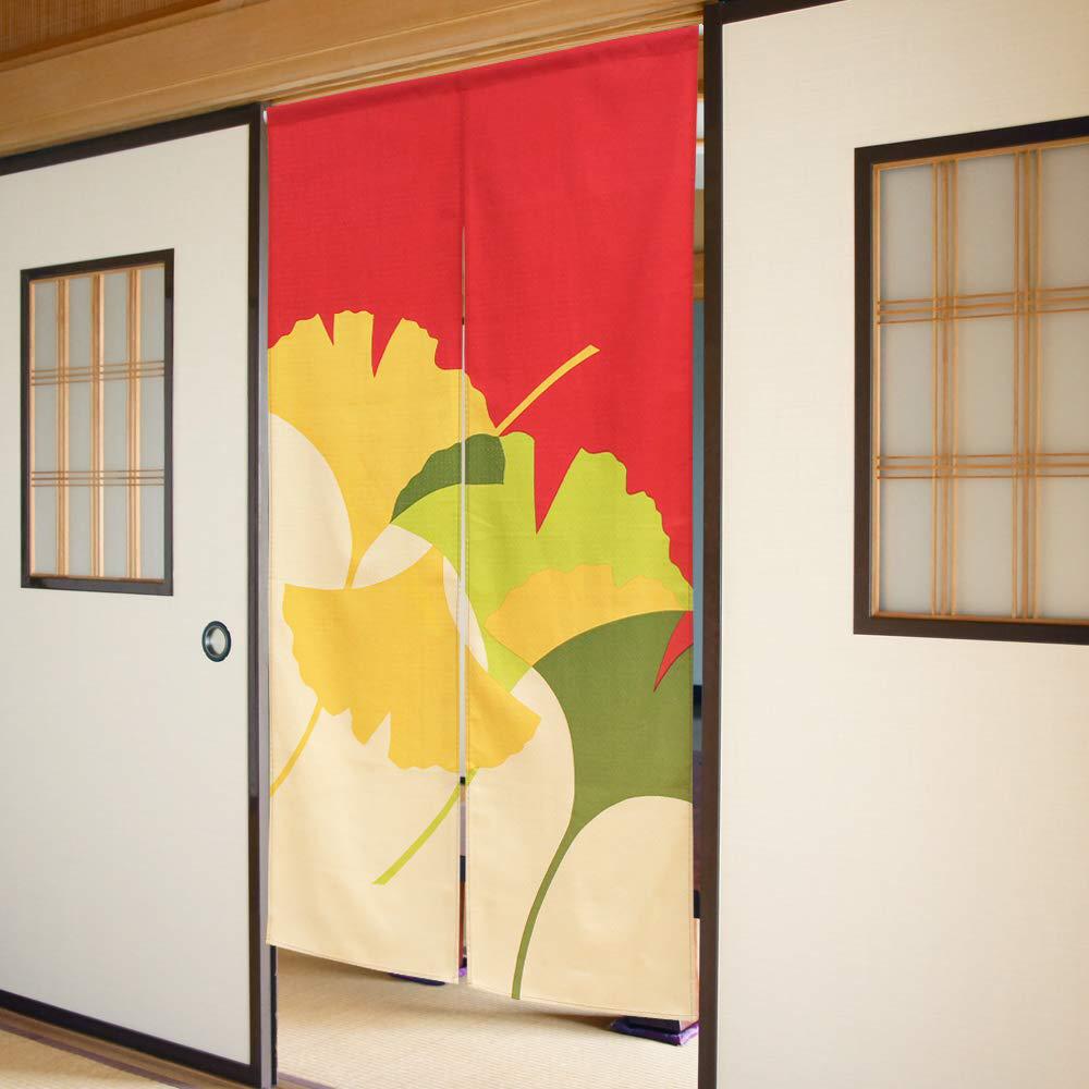 Noren Csmo Japanese Door Curtain Colorful Ginkgo Cotton 85 X 150