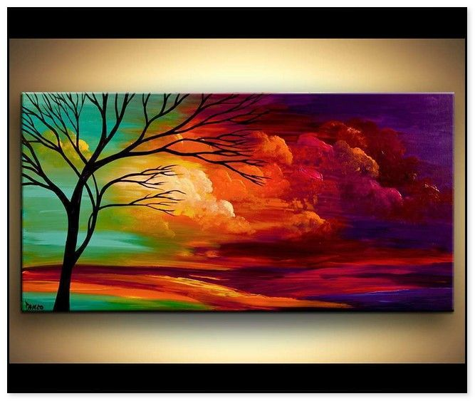 Easy Acrylic Canvas Painting Ideas For Beginners 32 Simple Acrylic Paintings Beginner Painting Canvas Painting