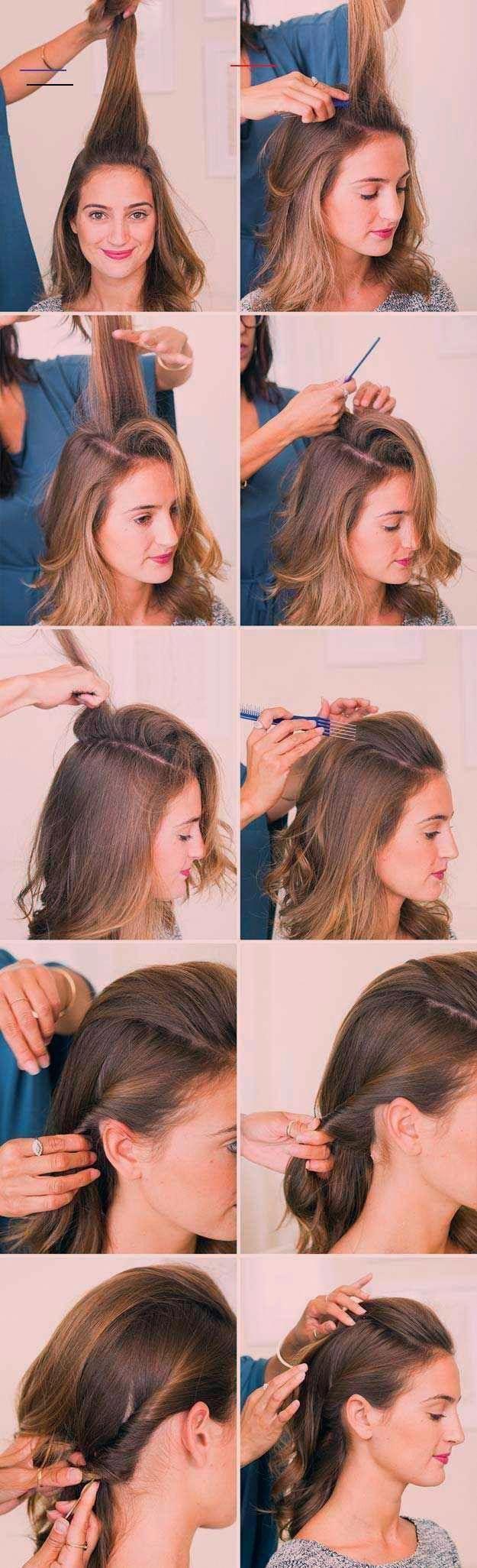 Photo of Erstaunliche halb hoch halb runter Frisuren für langes Haar – The Half Up PompaDour – Eas …