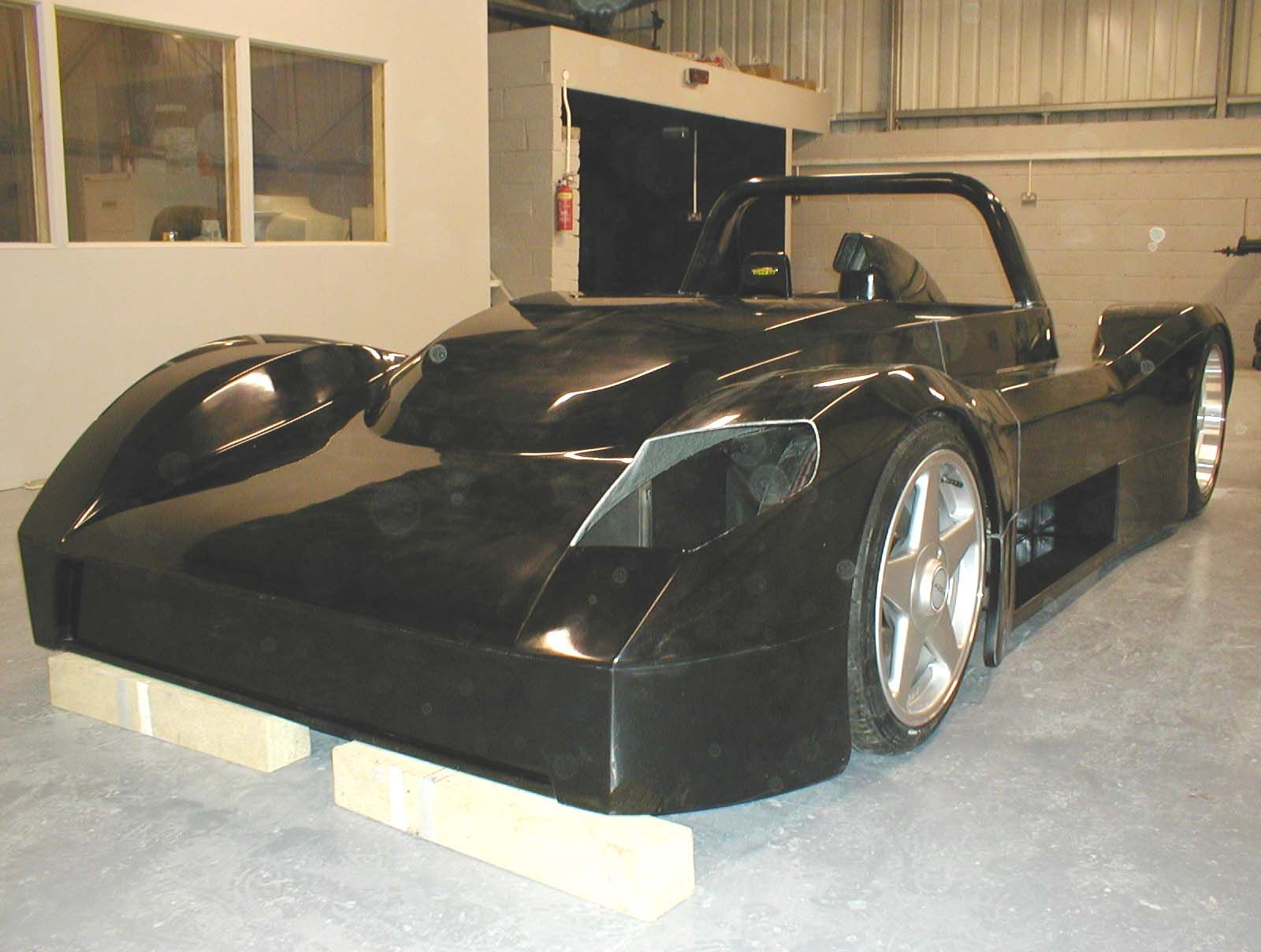 We'd never quite decided on the front lighting positioning (this car was road legal), so we waited until we had the body until playing about with shapes and positions. The final shape ensured the lamp was positioned to meet SVA regulations.