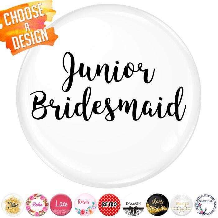 Junior Bridesmaid Badge