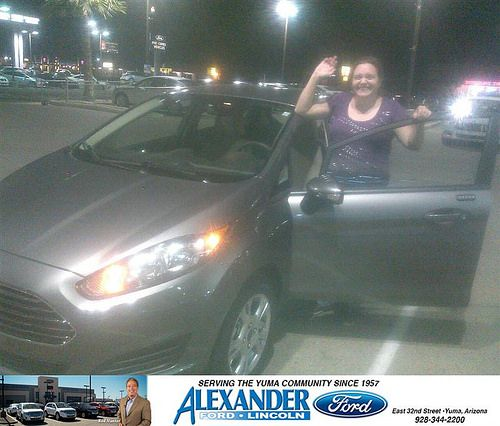Congratulations To Jessica Ashcraft On Your Ford Fiesta Purchase From Jose Guerrero At Bill Alexander Ford Lincoln Newcar Ford Specials Ford Guerrero