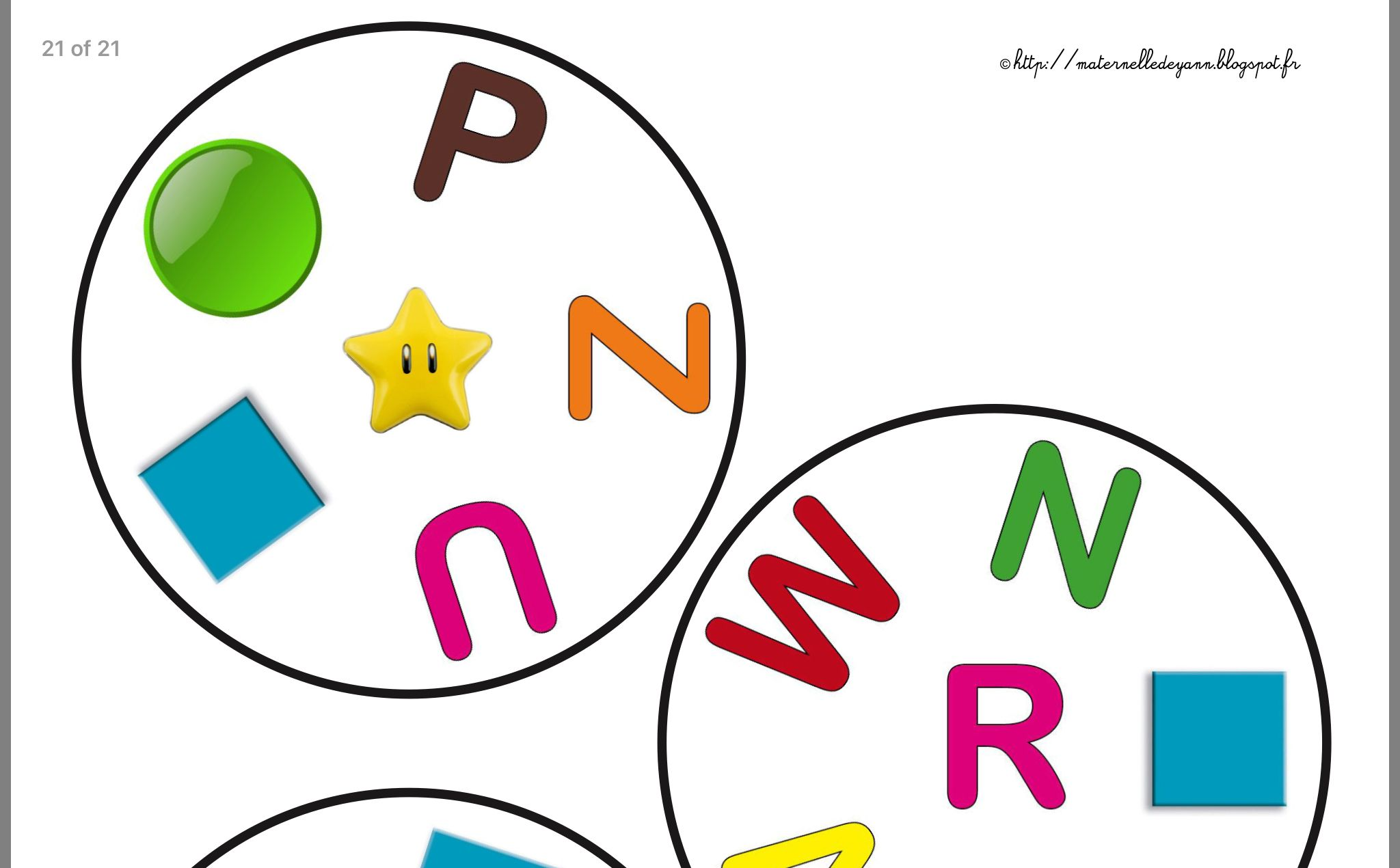 Printable Dobble English Alphabet With Images